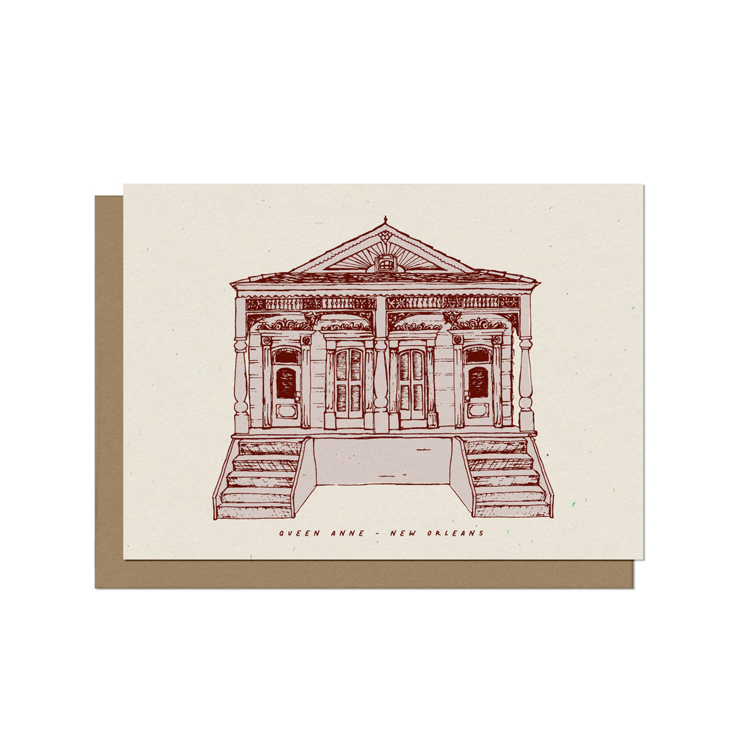 Queen Anne Double - New Orleans Blank Card