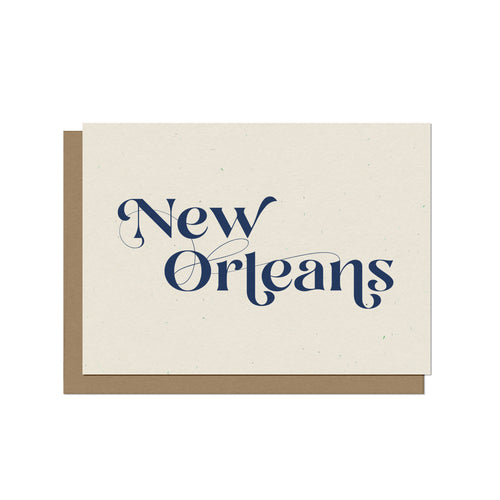 New Orleans Script Blank Card
