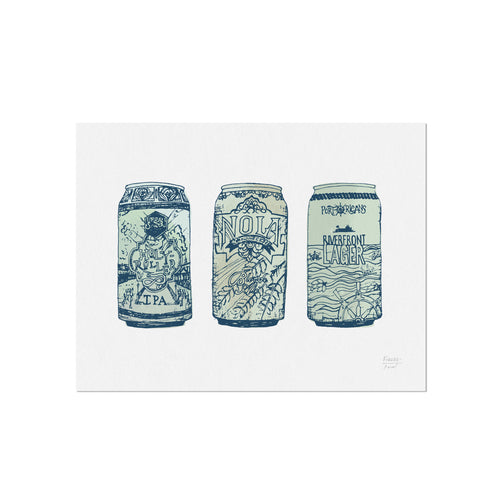 NOLA Breweries Beer Cans Art Print