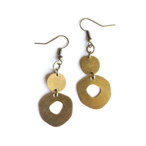 Organic Shapes Dangle Earrings