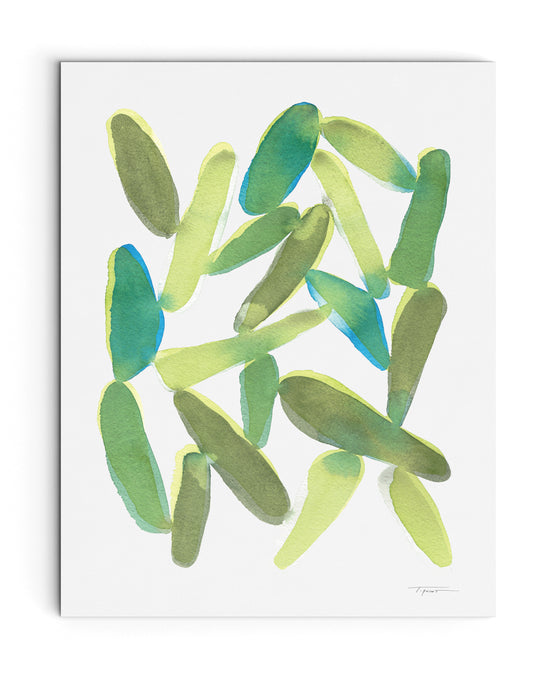 Organic Shapes - Original Watercolor Painting - No.3