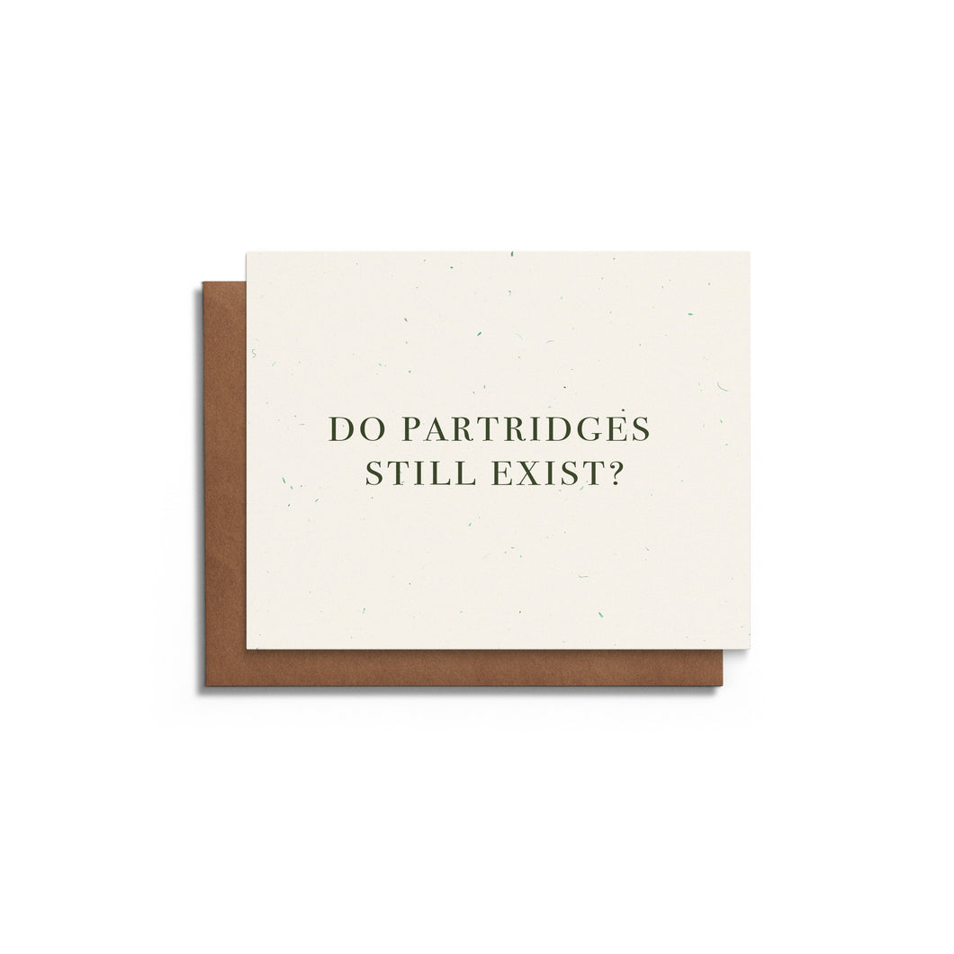 Partridges Humorous Christmas Card