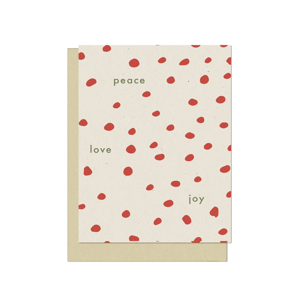 Peace Love Joy | Blank Holiday Card
