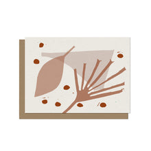 Playful Abstract Floral Blank Card