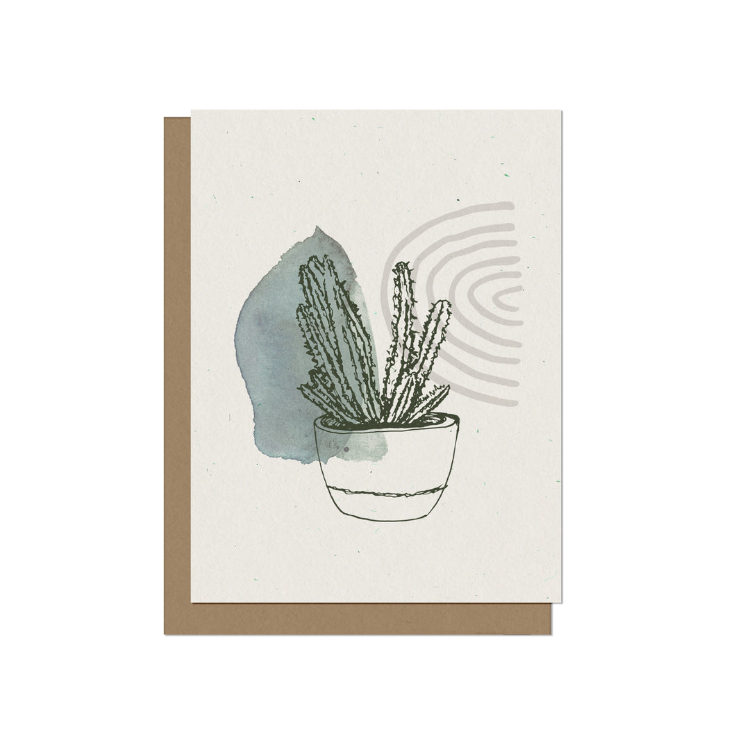 Prickly Succulent Blank Card