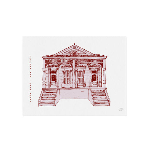 Queen Anne Double - New Orleans Homes Illustration Art Print
