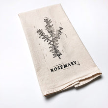 Rosemary Block Printed Natural Cotton Kitchen Towel