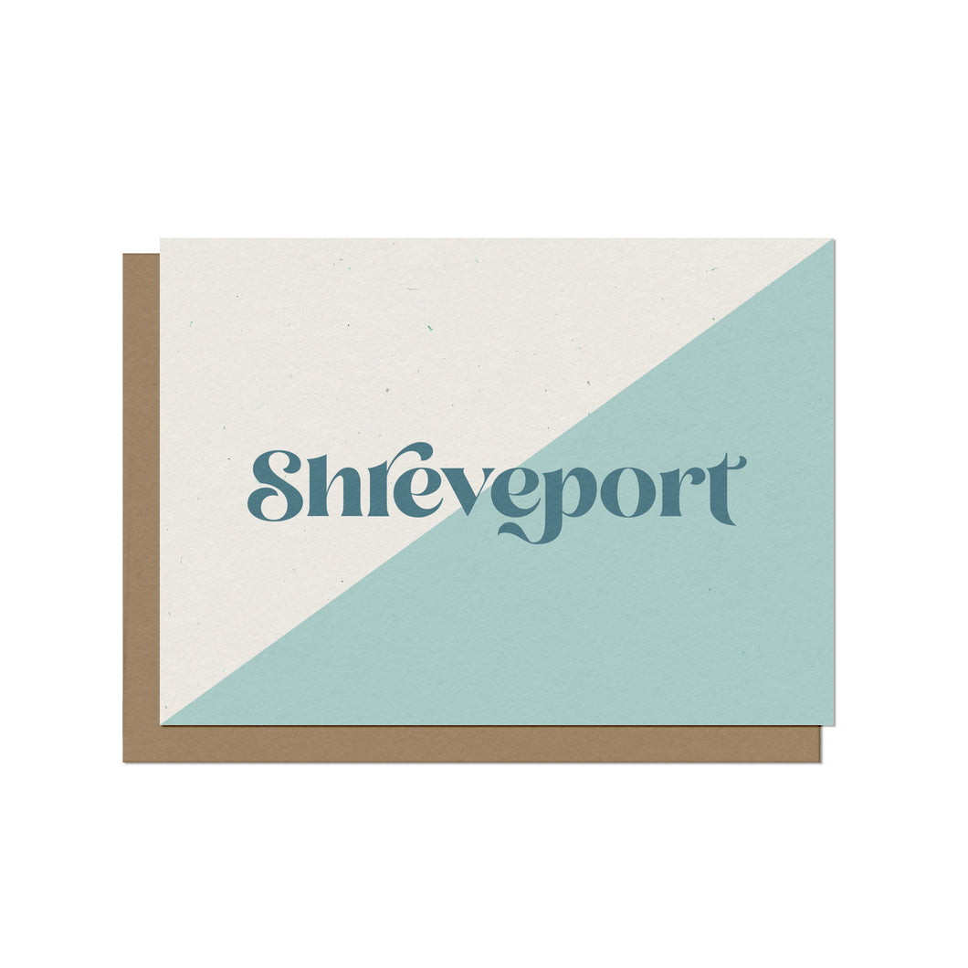 Shreveport Typography Blank Card