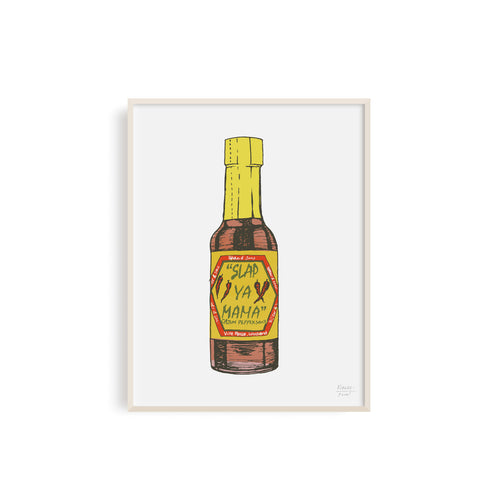 Slap Ya Mama Louisiana Hot Sauce Illustration