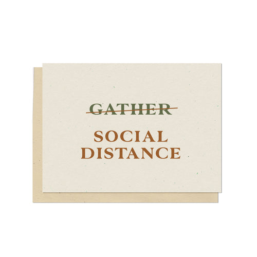Social Distance Holiday Card