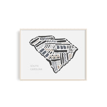 South Carolina State Map Art Print | SI-SC