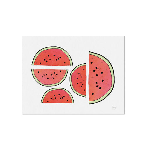 Summer Watermelons Fruit and Kitchen Art Print