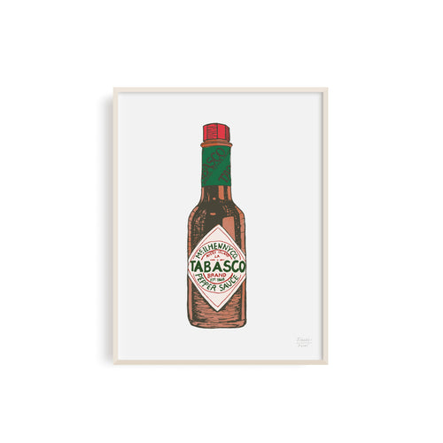 Tabasco Louisiana Hot Sauce Illustration