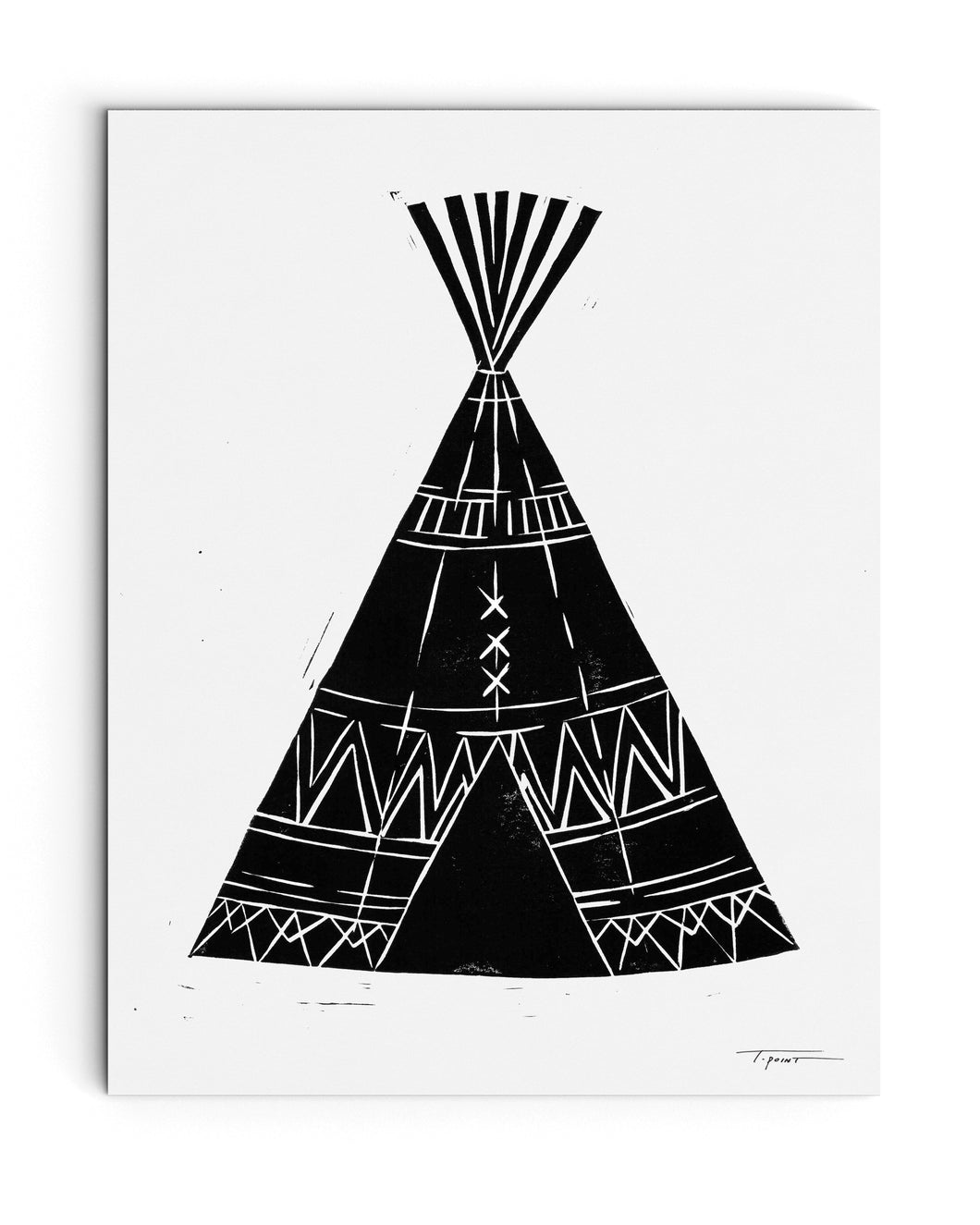 Tribal Tee Pee | Block Print