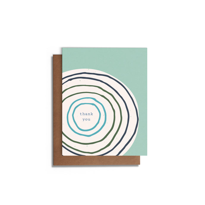 Thanks Modern Circle Patterns Blank Card