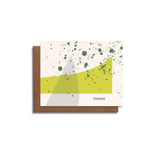 Modern Shapes and Splatters - Thank You Blank Card
