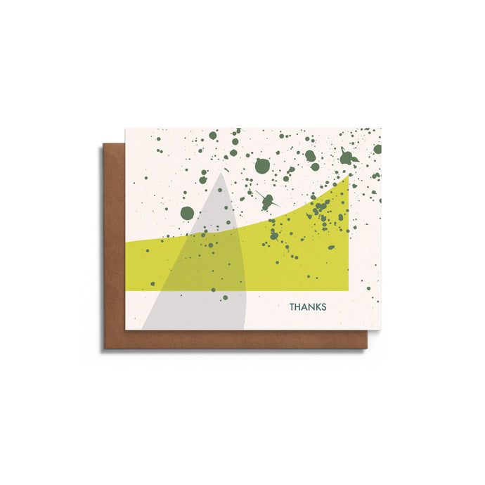 Modern Shapes and Splatters - Thank You Card - Blank Card