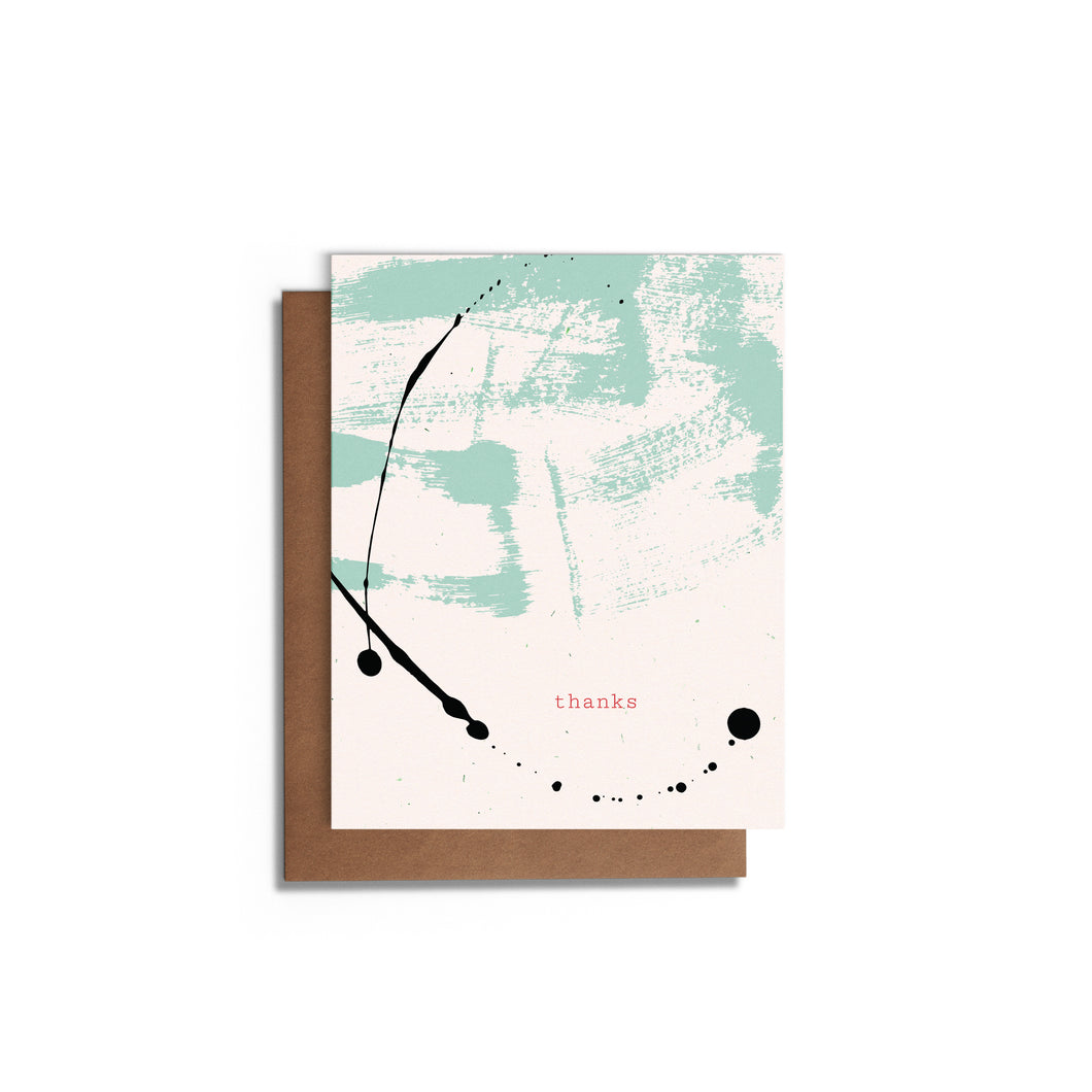 Modern Splatter | Thank You Blank Card