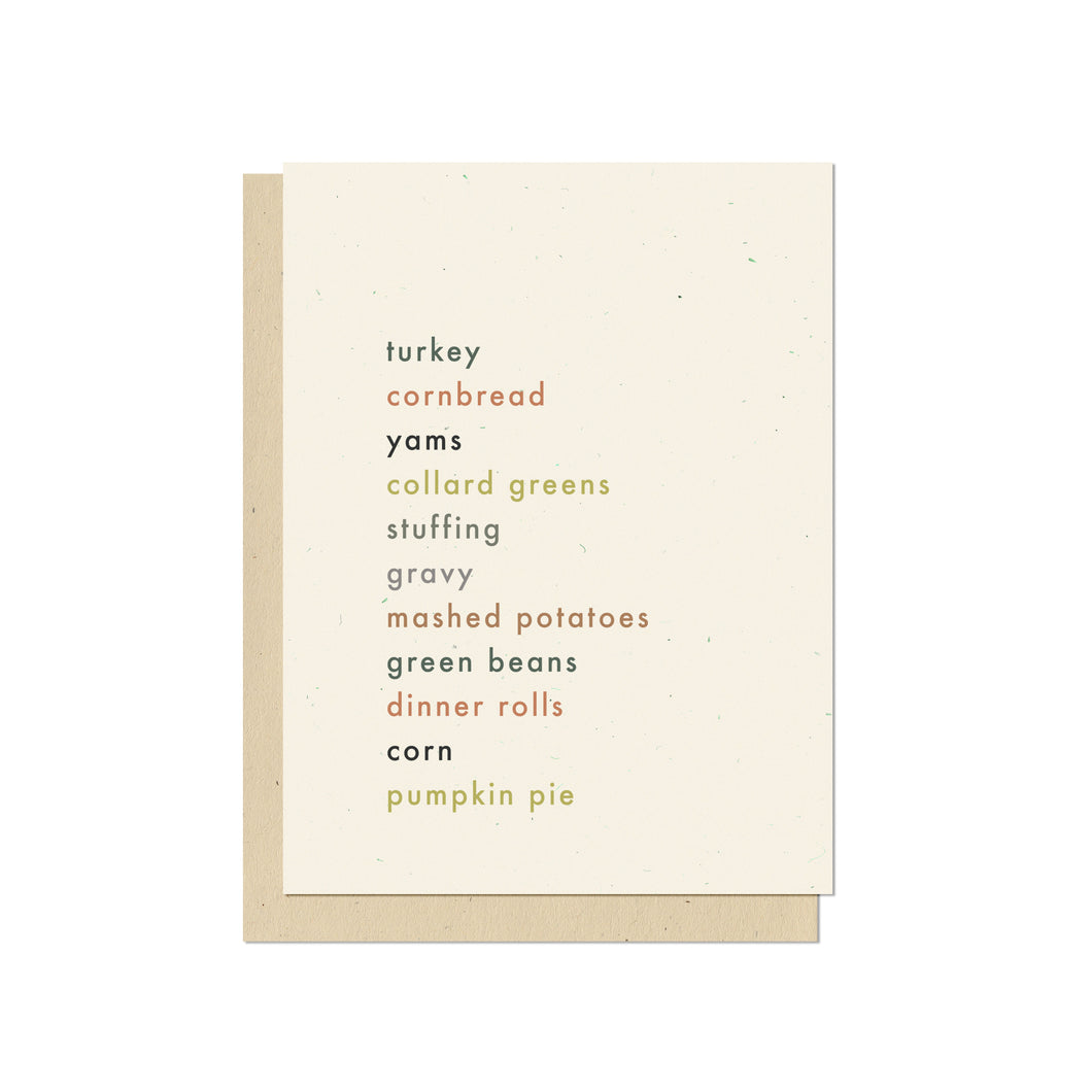 Thanksgiving Feast Holiday Card