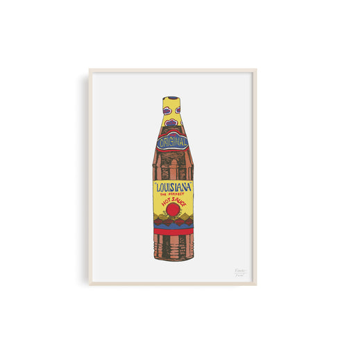 The Original Louisiana Hot Sauce Illustration