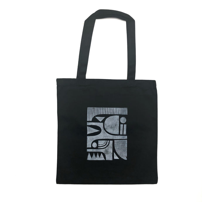 Modern Shapes Cotton Canvas Tote Bag