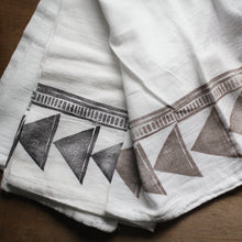 Kitchen Towel - Tribal Triangle Towel - Bloc-Printed by Hand
