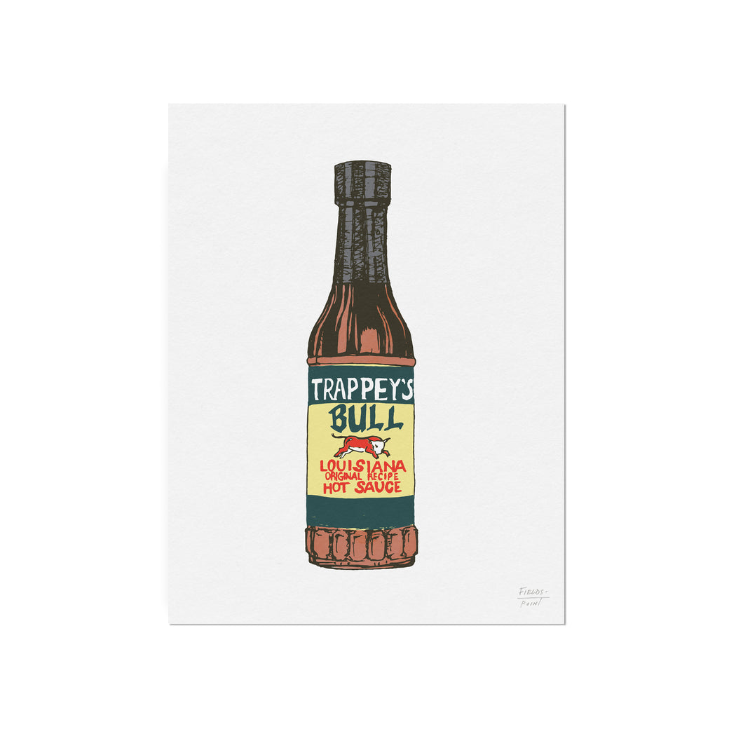 Trappey's Louisiana Hot Sauce Illustration