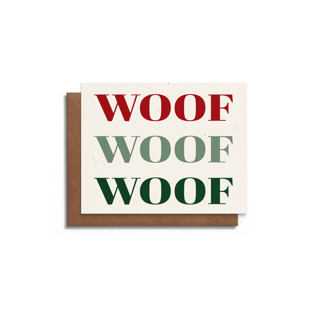 Woof Woof Woof | Funny Christmas Card
