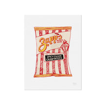 Zapps Spicy Cajun Crawtator Chips Illustration