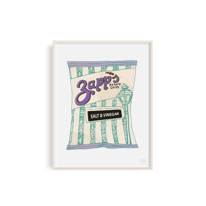Zapps Salt and Vinegar Chip Illustration by Statement Goods