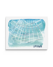Uptown New Orleans Watercolor Map Print - Illustration Art Print | IL-N017FQ