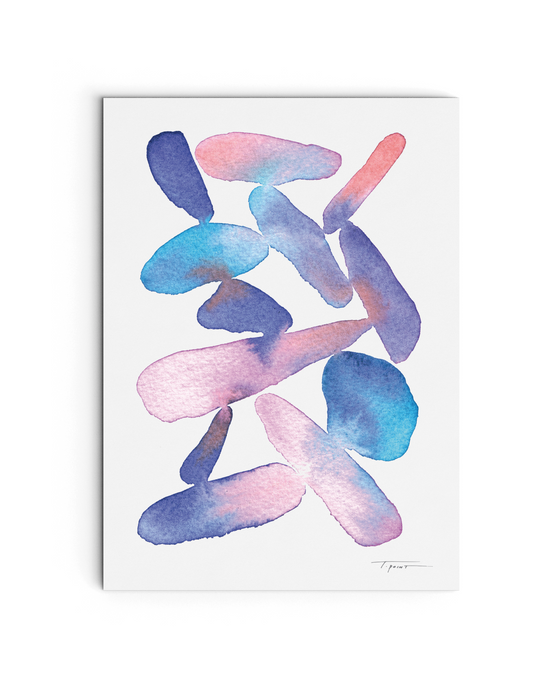 Organic Shapes - Watercolor Print - No.1