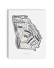 Georgia State | Map Art Print | SI-GA