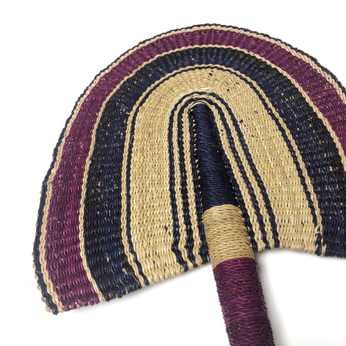 Magenta and Purple - One of a Kind Colorful Ghanaian Fan