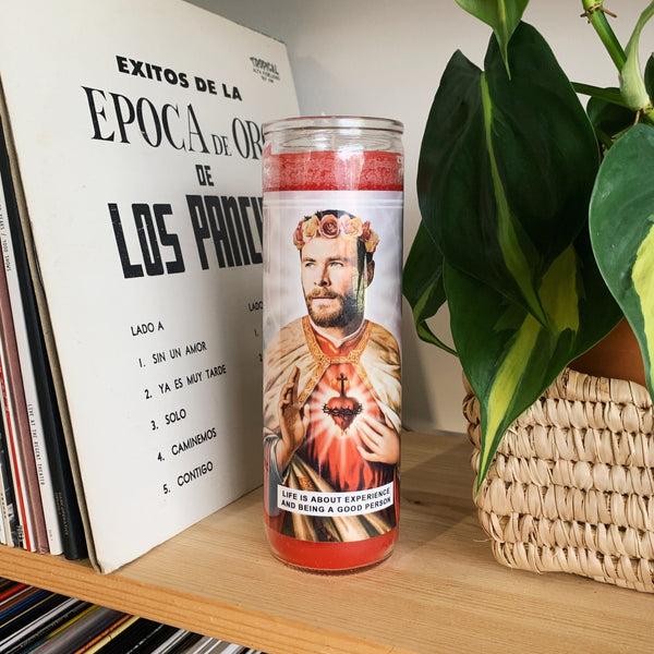 Saint Chris Hemsworth Prayer Candle