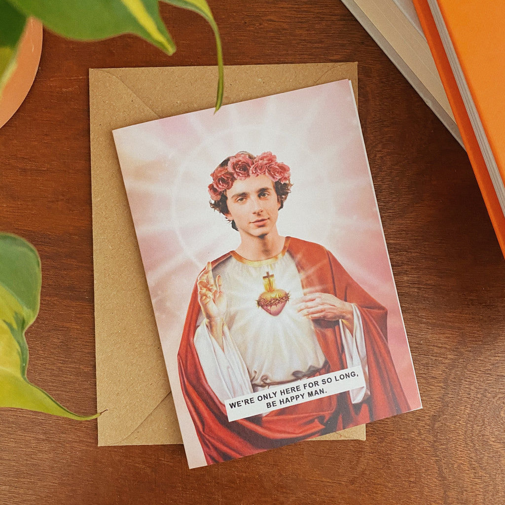Saint Timothée Chalamet Greetings Card
