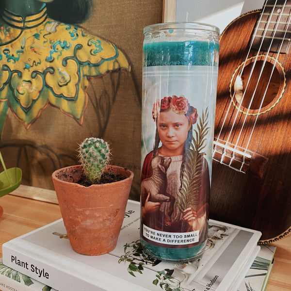Saint Greta Thunberg Prayer Candle
