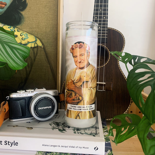 Saint Robin Williams Prayer Candle