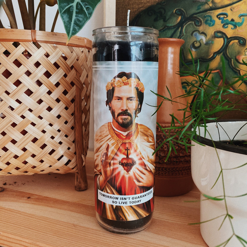 Saint Keanu Reeves Prayer Candle