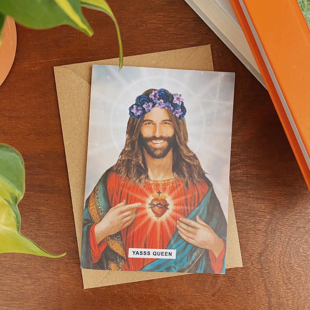 Saint Jonathan Van Ness Greetings Card