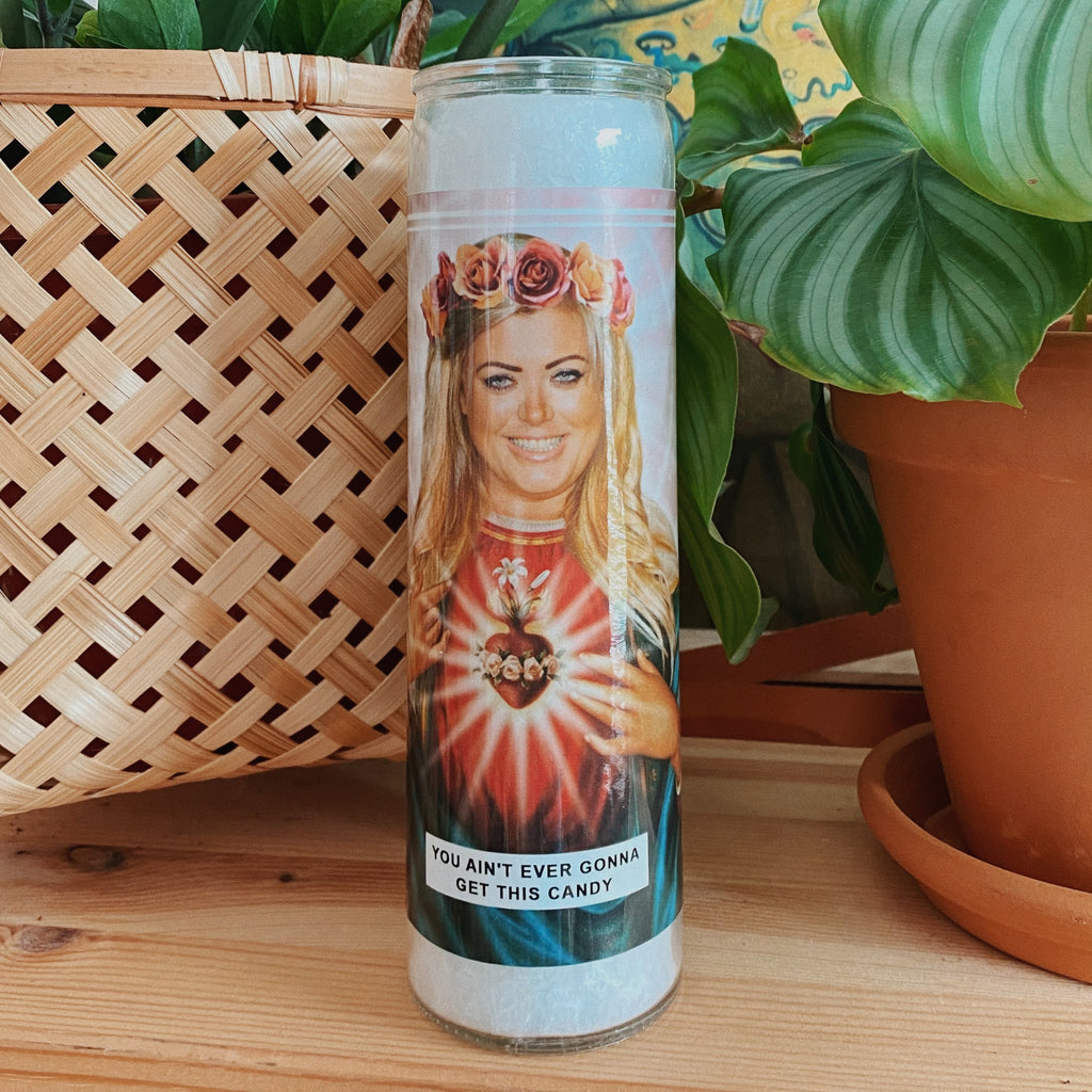 Saint Gemma Collins | TOWIE Prayer Candle