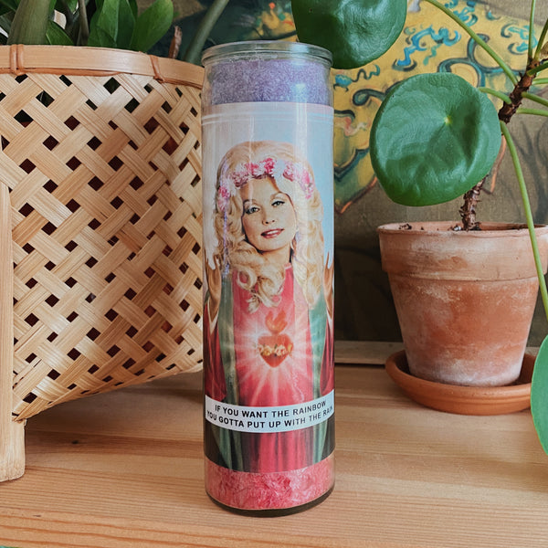 Saint Dolly Prayer Candle