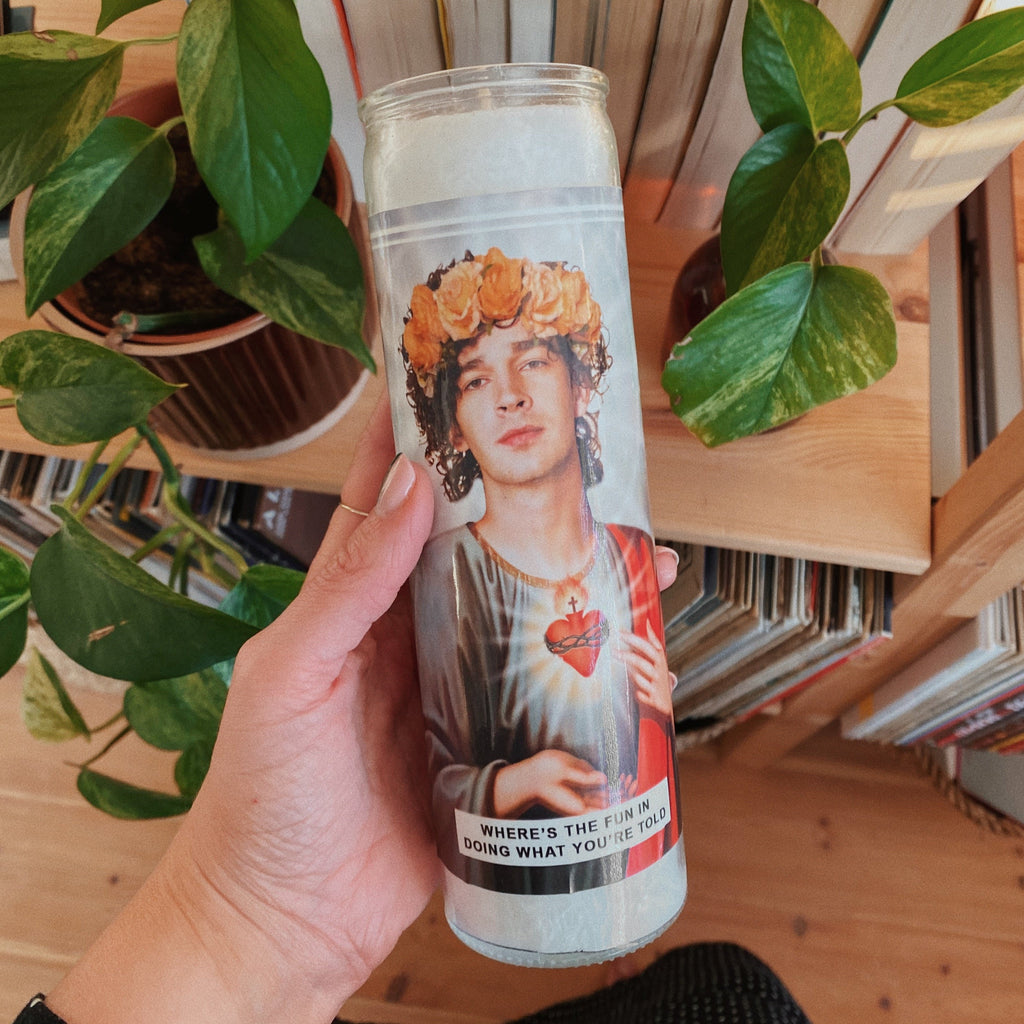Saint Matt Healy 1975 Prayer Candle