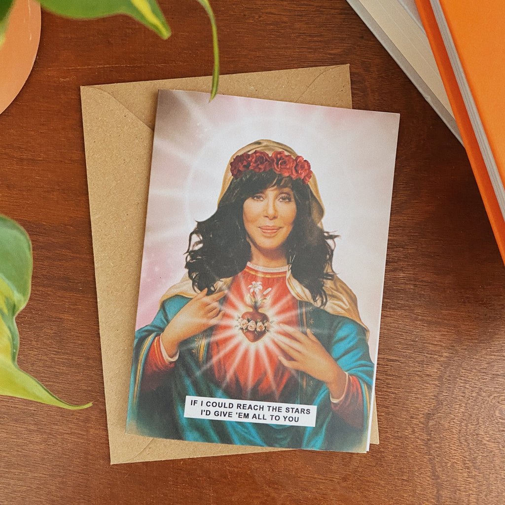 Saint Cher Greetings Card