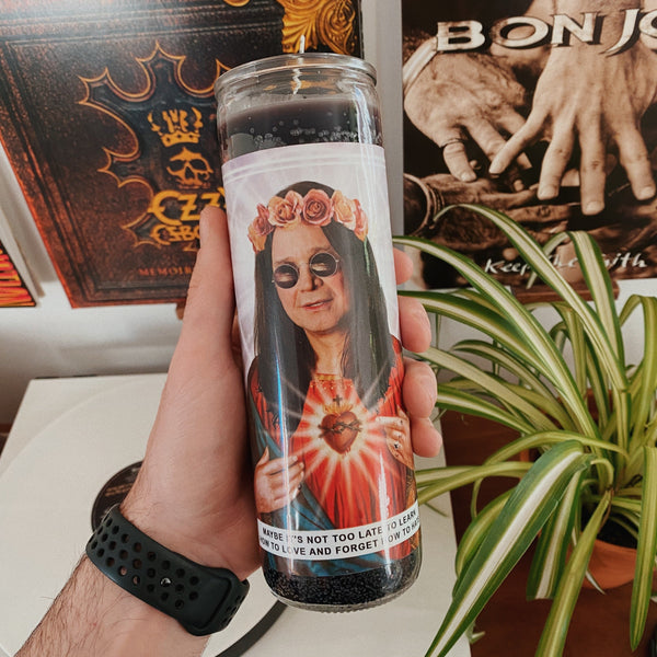 Saint Ozzy Osbourne Prayer Candle