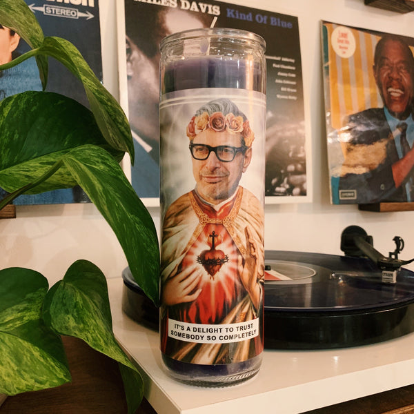 Saint Jeff Goldblum Prayer Candle