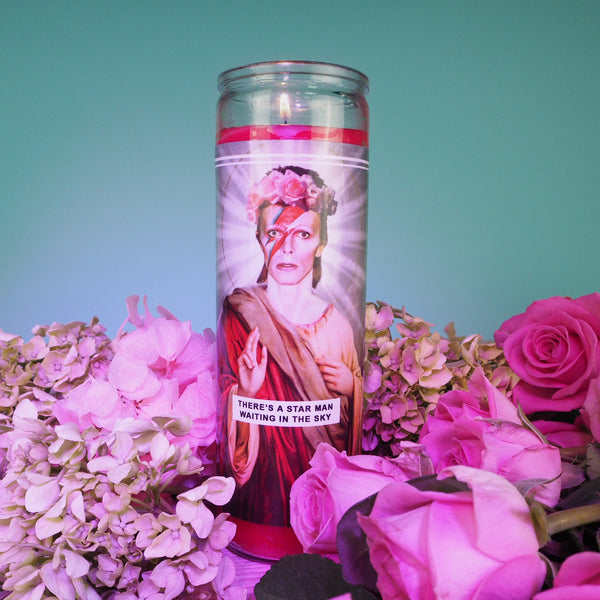 Saint David Bowie Prayer Candle