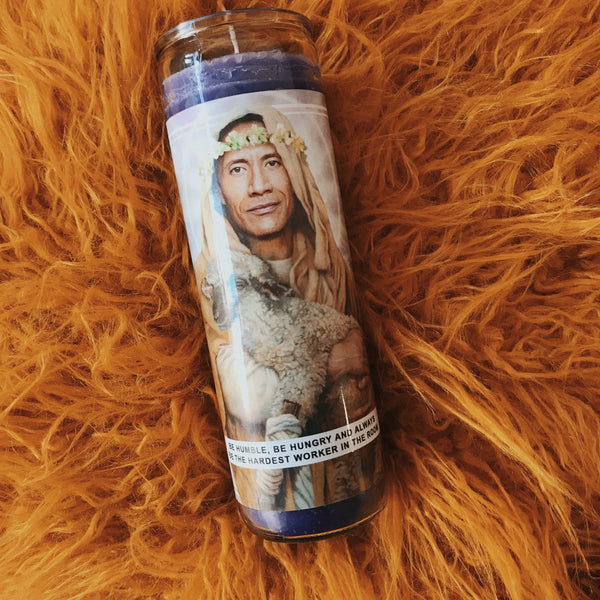 Saint Dwayne | The Rock Prayer Candle