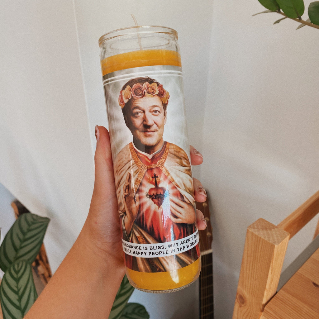 Saint Stephen Fry Prayer Candle