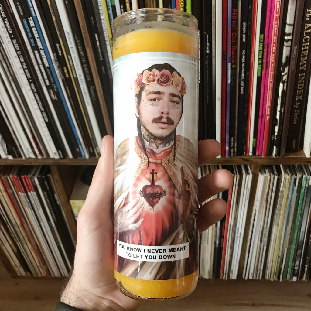 Saint Post Malone Prayer Candle